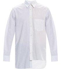 asymmetrische gestreept overhemd