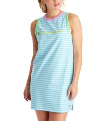 champion women's campus striped tank top dress