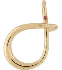 charlotte chesnais criss-cross earring - gold