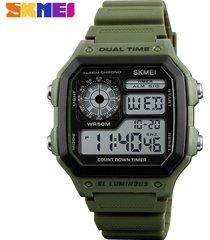 reloj deportivo para hombre skmei modelo 1299-verde