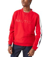nautica men's embroidered logo fleece sweatshirt
