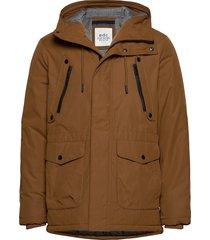 jackets outdoor woven parka jacka brun edc by esprit
