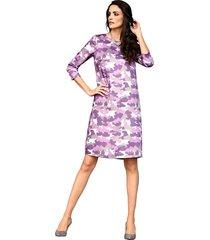 jurk amy vermont paars::grijs::offwhite