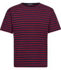 breton striped shirt théviec t-shirts short-sleeved röd armor lux
