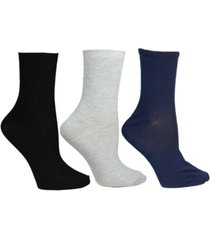 steve madden women's 3 pack super soft ribbed crew socks, online only