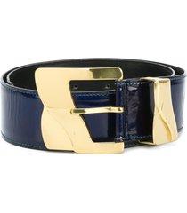 versace pre-owned wide belt - blue
