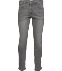 slhslim-leon 3021 l.grey st jeans w noos slimmade jeans grå selected homme