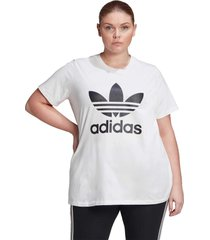 camiseta adidas originals trefoil branco