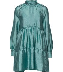 jasmine, 863 textured poly korte jurk groen stine goya