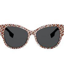 burberry eyewear cat-eye sunglasses - neutrals