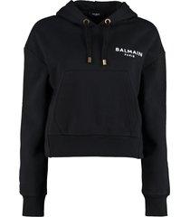 balmain cotton hoodie