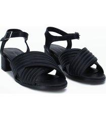sandalias cruzadas negro 35