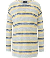 trui met lange mouwen en subtiele boothals van looxent multicolour