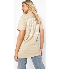 fortune teller t-shirt met rugopdruk, sand