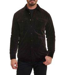 men's robert graham carnaby slim fit shirt jacket, size xx-large - purple