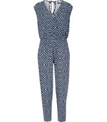 tuta cropped in jersey (blu) - bpc bonprix collection