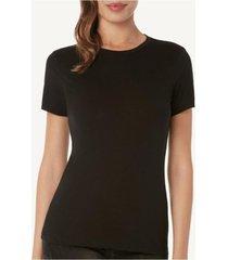 blusa de manga curta em algodã£o supimaâ® intimissimi algodã£o supima preto - preto - feminino - dafiti