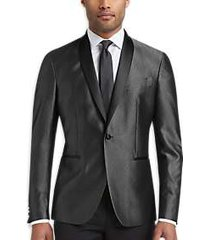kenneth cole awearness silver gray slim fit formal jacket