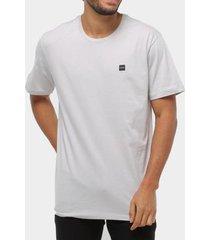 camiseta oakley patch 2.0 cinza masculina