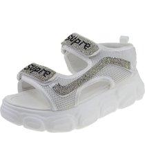sandalia blanco via franca