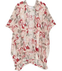 women's lightweight floral kimono peach multi one size from sole society