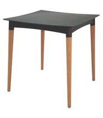 mesa quadrada tramontina 92353009 diana c/ pés em madeira preta