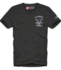 black st. barth pirates print man t-shirt
