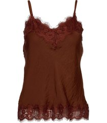 strap top t-shirts & tops sleeveless bruin rosemunde