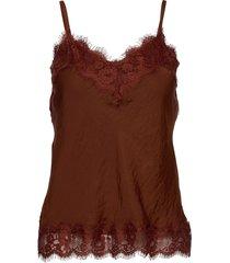 strap top t-shirts & tops sleeveless bruin rosemunde