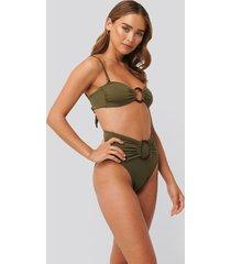 trendyol bikini med hög midja - green