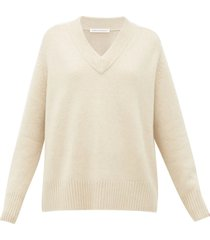 no.124 vital stretch-cashmere v-neck sweater