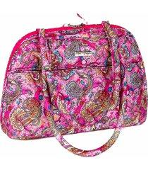 bolsa handbag tecido ombro  zãper espaã§osa casual rosa - rosa - feminino - dafiti