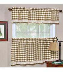 buffalo check window curtain tier pair, 58x36