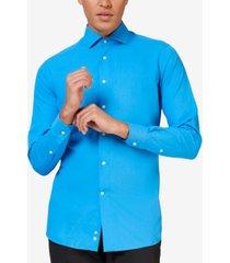 opposuits men's blue steel solid color shirt