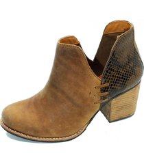 botín cuero florencia tostado amano shoes