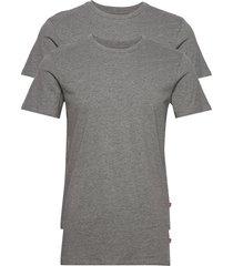 levis men solid crew 2p t-shirts short-sleeved grå levi´s