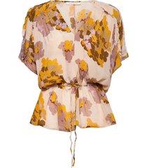 daryana blouses short-sleeved multi/mönstrad rabens sal r