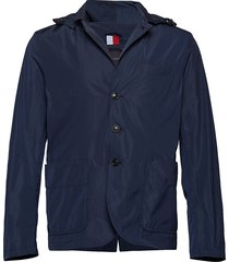 packable hooded blaz dun jack blauw tommy hilfiger