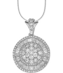 "diamond ballerina 18"" pendant necklace (2 ct. t.w.) in 14k white gold"