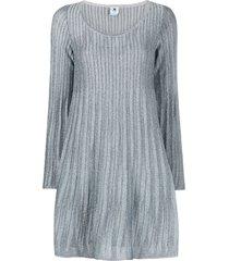 lamã© dress with wide neckline