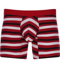 bóxer pretina contraste color rojo, talla s