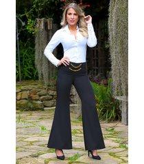 pantalón glamour outfit 1082 para mujer negro