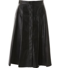 marni leather skirt