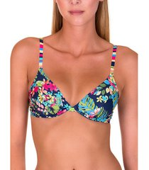 bikini lisca florida marineblauwe beugelzwembroek topje