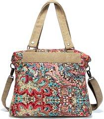 brenice donna vintage casual bors a mano con tracolla in tela floreale borsa a spalla