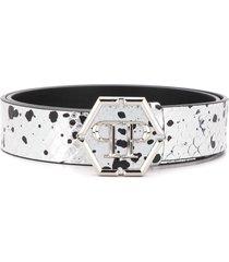 philipp plein luxury belt - silver