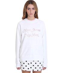 marc jacobs sweatshirt in white cotton
