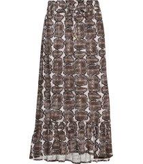 skirt lång kjol brun sofie schnoor