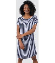 vestido para mujer a rayas color blanco, talla 10