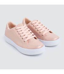tenis mujer lisos rosa